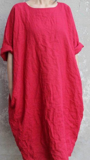 сшить платье бохо лен